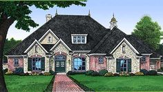 Exterior of Charming French Country Home Plan