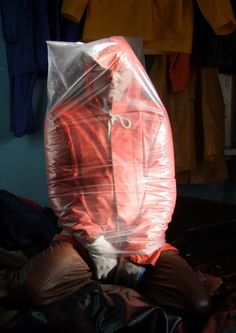 Plastic bag breath control fetish