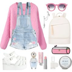 crybaby - melanie martinez by omgmarissa on Polyvore featuring H&M, Bamboo, Want Les Essentiels de la Vie, Bling Jewelry, VIVETTA, Essie, Marc Jacobs, women's clothing, women's fashion and women