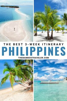 Philippines itinerary | how to spend 3 weeks in the Philippines | Philippines destinations | bucket list ideas | bucket list ideas Philippines | where to go in the Philippines | places to visit in the Philippines | places to visit in Southeast Asia | places to visit before you die | where to go in Southeast Asia | backpacking Southeast Asia | Southeast Asia destinations | honeymoon ideas | vacation ideas | travel tips | best places for solo travel #traveltips #travel #southeastasia #philippines Philippines Destinations, Philippines Travel Guide, Travel Destinations, Beach Trip, Beach Vacations, Hawaii Beach, Oahu Hawaii, Beach Hotels, Beach Travel