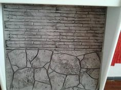 Hormigon impreso, paredes