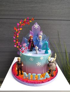 Frozen Party Cake, Frozen Themed Birthday Cake, Frozen Themed Birthday Party, Disney Frozen Birthday, Themed Birthday Cakes, Themed Cakes, Party Cakes, Disney Frozen Cake, Castle Birthday Cakes