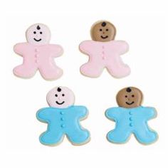 Great idea for a baby shower (gingerbread cookie cutter).