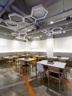 hexagon lighting - ceiling element