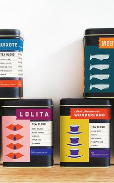 Your Favorite Books, If They Were Tea A DESIGNER RE-IMAGINES LITERARY CLASSICS AS LOOSE LEAF TEAS, PACKAGED IN PUNCHY GRAPHICS.