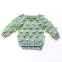Kalinka Kids Viola Sweater - Mint/ Lime