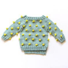 Kalinka Kids Viola Sweater - Mint/ Lime