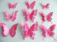 These paper butterflies are looking very beautiful. Paper Butterfly origami is very easy to make. Even kids can make these beautiful paper butterfly. Origami Butterfly Easy, Paper Butterfly Crafts, How To Make Butterfly, Simple Butterfly, Butterfly Template, Paper Butterflies, Paper Flowers, Paper Crafts, Pink Butterfly