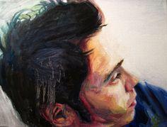 "Portrait of Samm, 2013 by Krystal Booth  Oil on canvas, 9x12"""