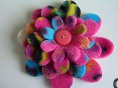 fleece flowers for the headband