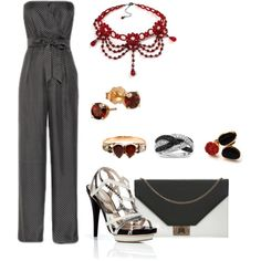 """""""Red Hot Strapless"""" by bethherrmann on Polyvore"""