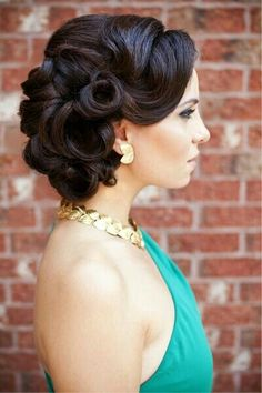 This updo would be perfect to try for a night out. I do have to say, it would look so much better with brilliant blonde locks like mine.
