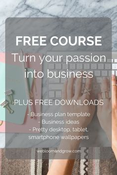Have you ever wanted to turn your creative passion into … Business Management, Business Planning, Business Ideas, Money Management, Business Plan Template, Creating A Business, Online Business, Business Launch, Free Courses