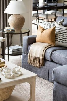 Living Room Grey, Rugs In Living Room, Home And Living, Living Room Designs, Living Room Decor Black And White, White Sofa Decor, Charcoal Sofa Living Room, Room Rugs, Neutral Sofa