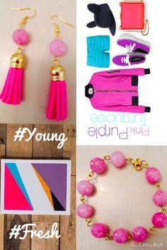 #pink #tassel #earrings and #bracelet  #bespokeartjewellery
