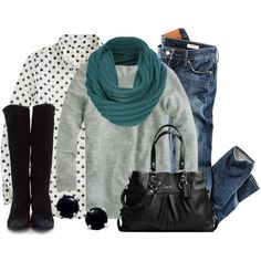 A fashion look from November 2012 featuring grey sweater, graphic shirts と H&M. Browse and shop related looks.