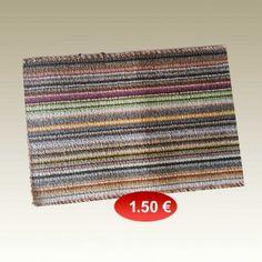 Πατάκι εξώπορτας 35Χ55 εκ. ριγέ σε διάφορα χρώματα 1,50 €
