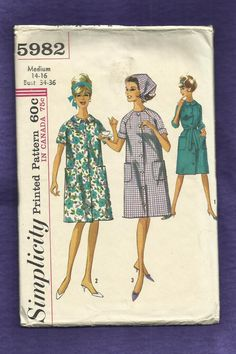 1965 Simplicity  5982 House Coat or Lightweight Robe by MrsWooster, $7.00