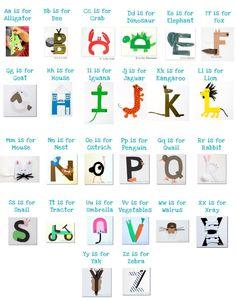 ABC letter crafts-another idea for alphabet book Zoo Phonics, Preschool Literacy, Preschool Letters, Kindergarten Reading, Alphabet Letter Crafts, Abc Crafts, Animal Alphabet, Letter Art, Just In Case