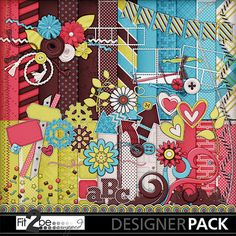 Enjoy these high quality designs by #Fit2beScrapped @MyMemoreis.com #DIgital #Creative #scrapbook #Craft #Wamk-ourstickers