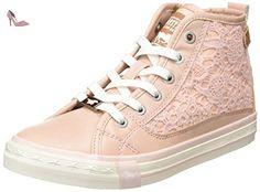 Mustang 5024507, Sneakers Hautes fille, Rose (555 Rose), 34 EU -