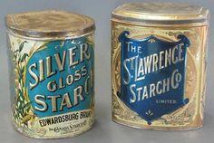 silver gloss starch tin - Google Search