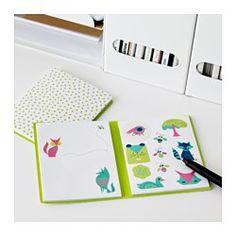 SPRUDLA Folder with stickers - IKEA