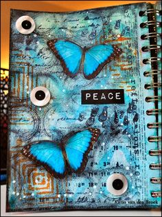 Karin as Creativity with a journal page and stamps by Designs by Ryn; Jan 2015