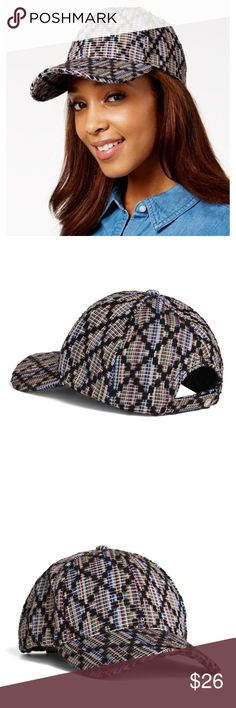 BCBGeneration Jacquard Woven Diamond Baseball Cap BCBGeneration Jacquard Woven Diamond Multicolor Women's Baseball Cap NWT BCBG Velcro closure New with tags BCBGeneration Accessories Hats