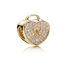3999 Gold Heart Lock Charm - PANDORA Hong Kong eSTORE | pandora.estore