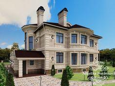 3D-визуализация экстерьера коттеджа в элитном посёлке Гринфилд. Фото 2017 - Дизайн экстерьера