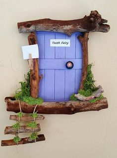 Tooth Fairy Door Sedona Fairy Door - My list of best Diy and Crafts Diy Fairy Door, Tooth Fairy Doors, Fairy Garden Doors, Fairy Garden Houses, Fairy Gardening, Indoor Gardening, Driftwood Crafts, Wooden Crafts, Diy And Crafts