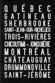 "Quebec subway sign art, 16x24"" canvas"
