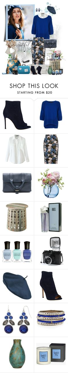 """""""Floral print"""" by murenochek ❤ liked on Polyvore featuring Gianvito Rossi, French Connection, Jason Wu, LSA International, Dot & Bo, Thierry Mugler, Deborah Lippmann, Lomography, Parkhurst and Liz Claiborne"""