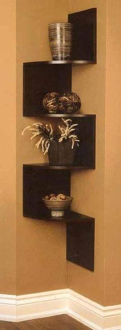 Really like this corner shelf for storage in a half bath! by catarina freitas