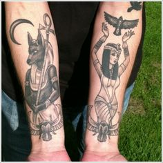 50 Egyptian Tattoo Designs | InkDoneRight  Over 2,000 years ago, Egypt was considered one of the biggest and most influential countries of the world. Here are more than 50 Egyptian Tattoo Designs...