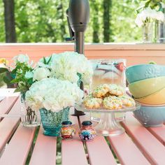 Lynn Lilly I have been wanting to give my deck furniture a makeover for a while but my time has been limited with a crazy work schedule and mom life! Deck Furniture, Happy Vibes, Craft Box, Do It Yourself Home, Outdoor Tables, Tablescapes, Diy Home Decor, Crafty, Table Decorations