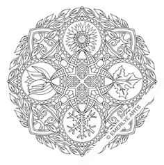 """Seasons"" Mandala - an adult coloring page for my new book."
