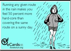 That's because you are hard core... And a running beast!