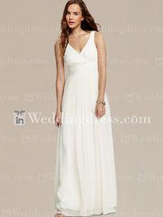 Beach wedding gown by serenaclinton