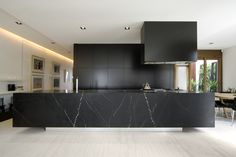 black kitchen. wow