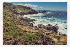 Wanderung 2: Blau grün und gelb. #omorro #farodecorme #playabalares #camiñodosfaros #füßeamlimit #50in2 by fernwehausloeser