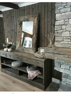 Ideas Design Art Wood Products For 2019 Chalet Interior, Interior Exterior, Cabin Homes, Log Homes, My Living Room, Home And Living, Montana Homes, Cabin Interiors, Cozy House