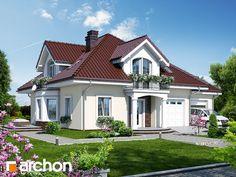 Dom w tymianku 6 Beautiful House Plans, Dream House Plans, House Outside Design, House Property, Bungalow House Design, Cute House, House Paint Exterior, Craftsman House Plans, Architect House