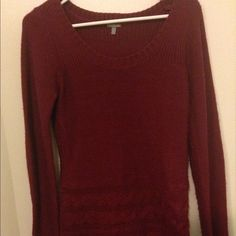 Dark red sweater Thick and warm :) good to wear with leggings and high heel boots :) great outfit for the holidays :) Charlotte Russe Sweaters Cowl & Turtlenecks