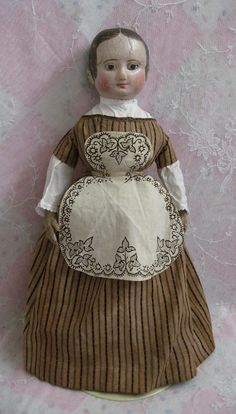 Fabulous and Rare Izannah Walker Doll with Ringlets from dollsandlace on Ruby Lane Old Dolls, Antique Dolls, Vintage Dolls, Antique Dollhouse, Fabric Dolls, Paper Dolls, Valley Of The Dolls, Doll Quilt, Mannequins