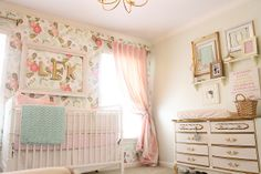 Charming in Charlotte: Nursery Talk (girls pink and mint nursery)