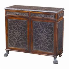 Theodore Alexander Cabinets and Sideboards Traditional Regency Walnut Side Cabinet