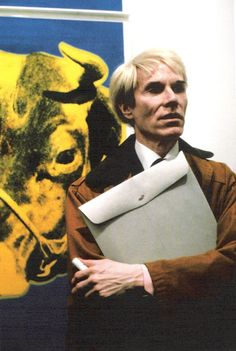 Photograph Eve Arnold Andy Warhol at an exhibition opening of his work. New York,1984