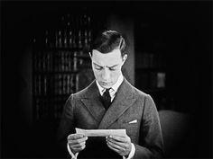 littlehorrorshop:  Buster Keaton breaks the fourth wall in The Saphead, 1920